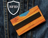Men's Minimalist Wallet Front Pocket Wallet RFID Blocking wallet Personalized Unique Gift Money Clip Change Your Leather Wallet