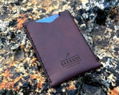 Minimalist credit card holder – Slim leather wallet - credit card holder - leather card sleeve - personalized case