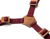 Personalized Wedding Suspenders Groomsmen Gift Burgundy Suspenders Men's Unique Gift Boys Wooden Suspenders Groomsmen Box