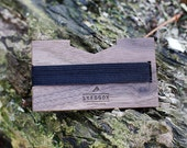 Wooden wallet, slim wallet, credit card holder, money clip, minimalist, purse