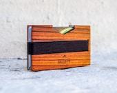 Extra slim WOODEN wallet / money clip
