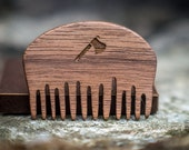 Handmade wooden beard and moustache comb made from best walnut