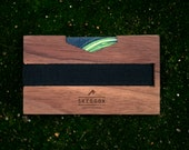 WOODEN wallet / money clip