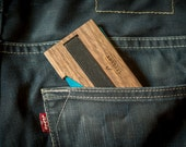 Change your leather wallet in to this WOODEN wallet / money clip / minimalist wallet / slim walet / gift wallet / mens wallet / gift for men
