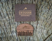 Mini wooden comb, Beard comb, Moustache comb, beard and mustache comb, pocket comb, gift for daddy, gift for boyfriend