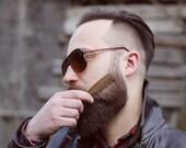 Gift for Men, Handmade wooden Beard and mustache comb