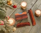 Grooming Set | Men's Wallet | Big Beard Comb | Wooden Comb | Grooming Kit | Christmas Gift  | Boyfriend Gift | Mens gift | Stocking Stuffer