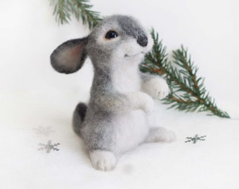 Rabbit Romka Interior felted toy