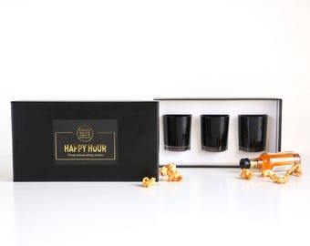 Happy Hour Boozy 3 shot candle gift set