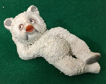 Vintage Snow Baby Collectible Container Topper Vintage Unique Bisque Snow Baby Decanter Stopper