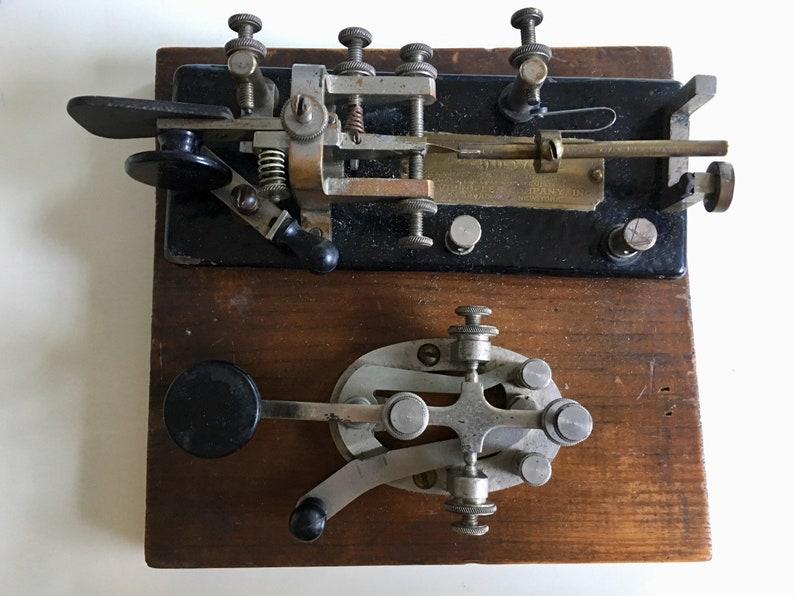 Sale-TWO Vintage Telegraph Keys -Vibroplex 66575Telegraph key Circa 1930s  plus a second key