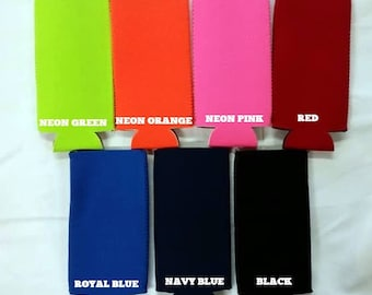 Neoprene Slim Can Coolies Customized With Your Design or Mine!