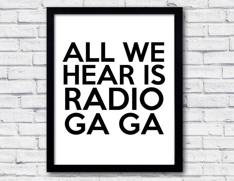 Queen Radio gaga Music is life in 2019 Queen lyrics Queen