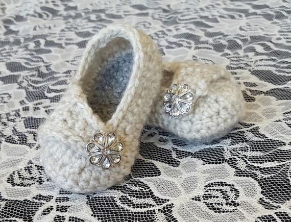 Crochet baby girl wrap shoes baby girl