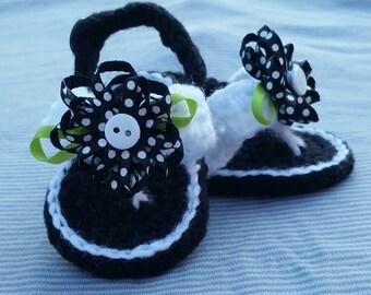 Baby girl crochet flip flops, baby flip flops, crochet baby shoes, handmade, baby girl shoes, baby sandals, baby gift, photo prop