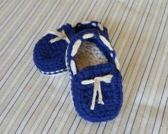 Crochet baby boy slippers, crochet baby moccasins, baby boy slippers, baby boy shoes, baby boy loafers, crib shoes, baby gift, photo prop
