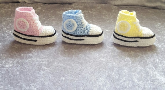 Baby Converse Shoes Crochet Baby Converse Shoes Baby Etsy