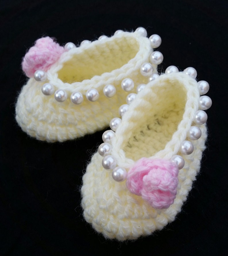 Baby Girl Crochet Shoes Ballerina Slippers Baby Ballerina Etsy