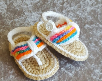 Crochet baby girl sandals, baby girl shoes, baby summer shoes, baby flip flops, baby girl summer shoes, baby shower gift, baby photo prop