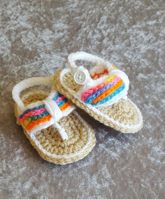 Häkeln Sie Baby Mädchen Sandalen Baby Mädchen Schuhe Etsy