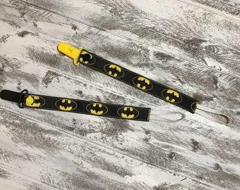 Batman Themed Pacifier Clip
