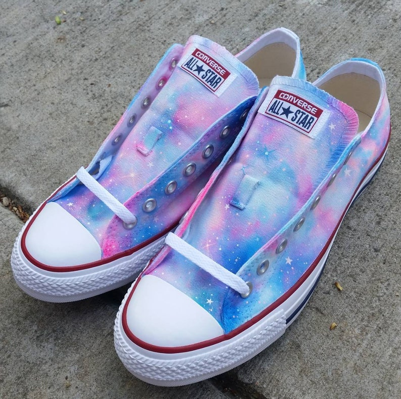 1bb15172f3 Rainbow Galaxy Converse low made to order personalized