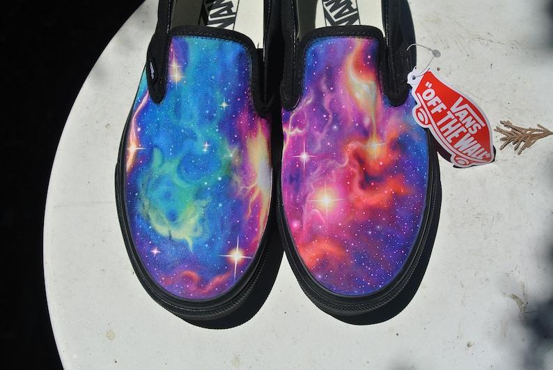 fb2124dacc Rainbow Galaxy Vans Slip-on made to order galaxy design in