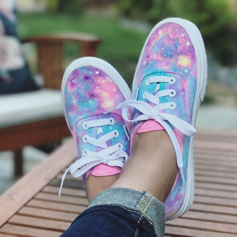 5b4d51deef Rainbow Galaxy Vans Authentic made to order personalized
