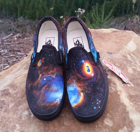 HAND MADE GALAXY PRINT VANS | eBay