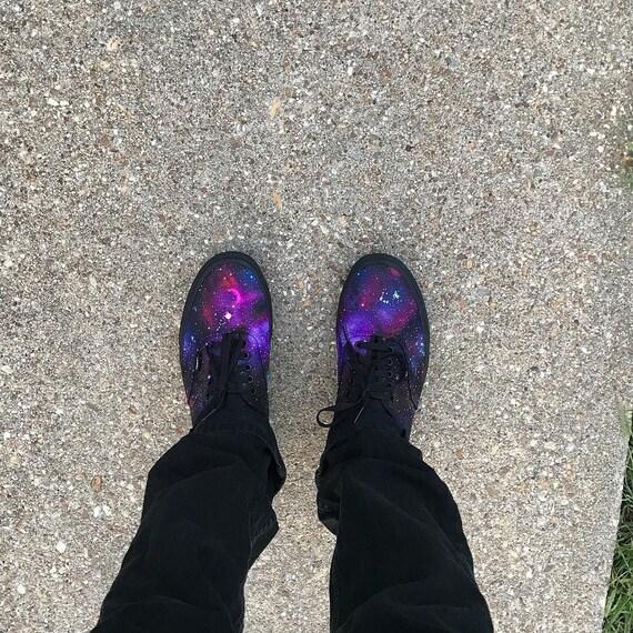 Galaxy Chaussures Authentique Custom Vans Fait CommandeEtsy Sur v8ONnw0m