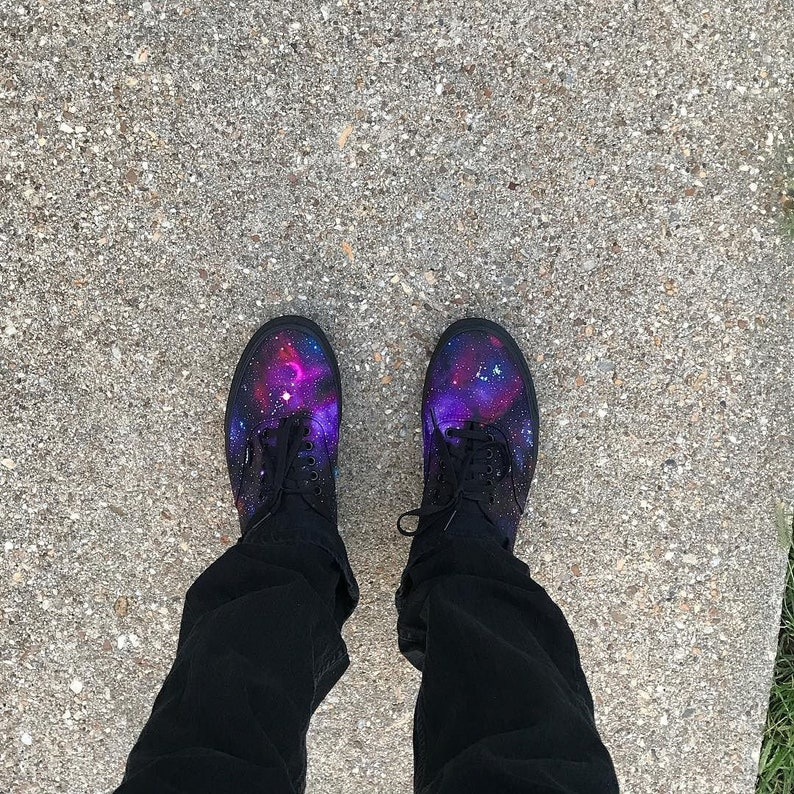 62b4aff1f2 Custom Vans Authentic Galaxy Shoes made to order galactic
