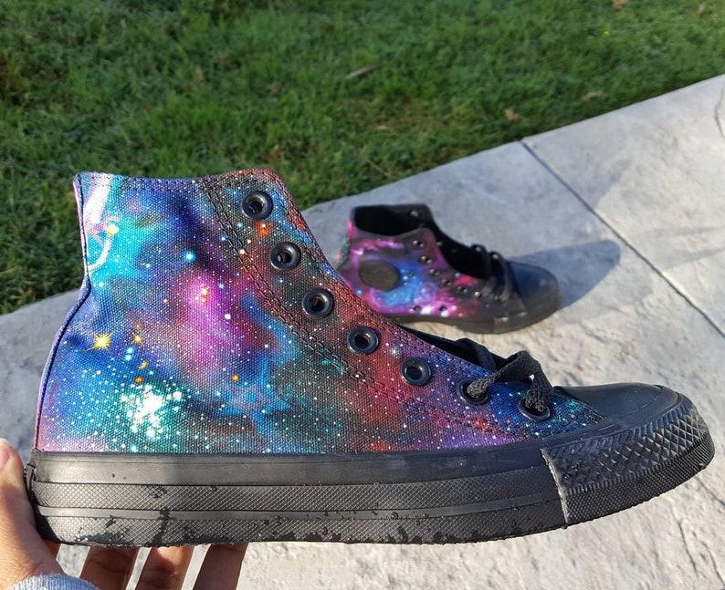 231a82c15a Custom Converse hi-top Galaxy Shoes made to order