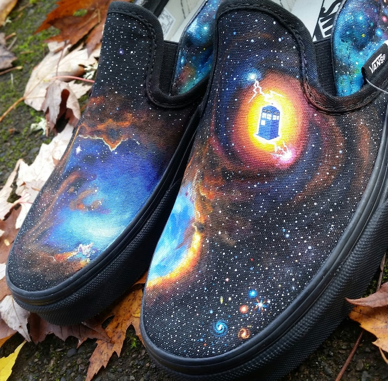 a46ae86e05 Custom Vans Slip-On Galaxy Shoes made to order