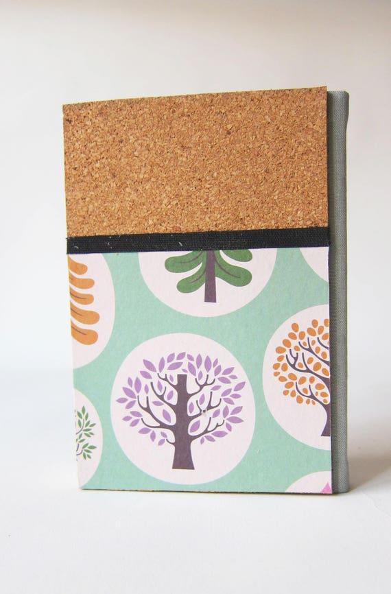 Modernen Grauen Farbigen Tuch Dorsal Notebook Pappe Abdeckung Etsy
