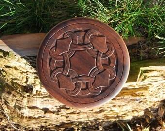 Spanschachtel, Spandose, in Nussbaum, mit schwedischem Motiv, shaker box, bentwood, swedish pattern,10th century, viking