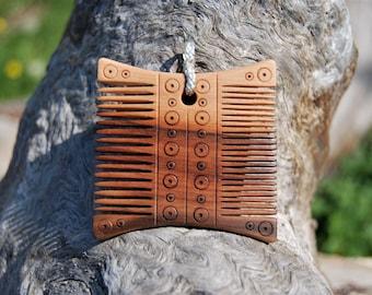 Wikingerkamm, baltisch, viking comb, mit Posamentierung aus echtem Silber