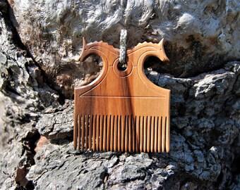 Wikingerkamm, Birka inspiriert, Originalgröße, viking comb, mit Posamentierung aus echtem Silber