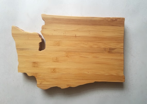 SET OF FOUR! Michigan state shaped BAMBOO COASTERS