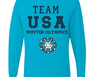 Team USA// Winter Olypics // heart of gold// personalized oympics shirts