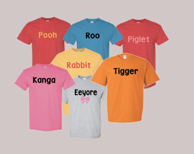 Pooh piglet tigger eyeeore Rabbit Roo Kanga disney bound halloween costume family cosplay shirt woman Man adult or child custom made