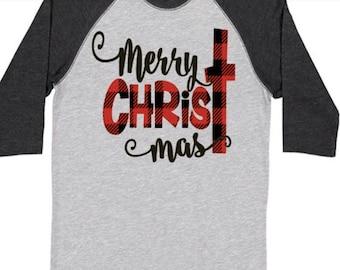 Christmas Shirt-Baseball Tee/Christmas vacation//christmas truck/buffalo plaid/elf/christmas movies