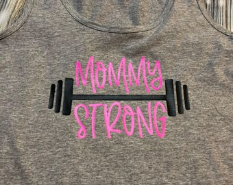 Workout tank// be you tiful // starbucks // custom order//mommy strong