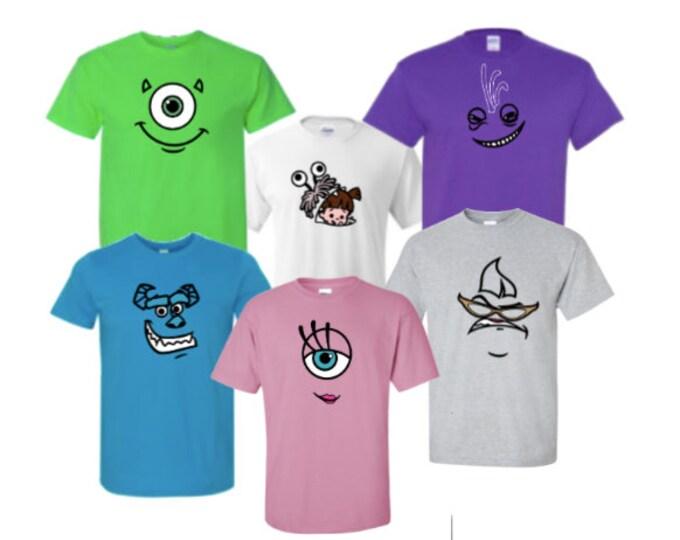 Monsters University Mike Wazowski James P. Sullivan / Sully Roz Randall Boggs Celia /Halloween Group Costume T-Shirts /Disney Trip