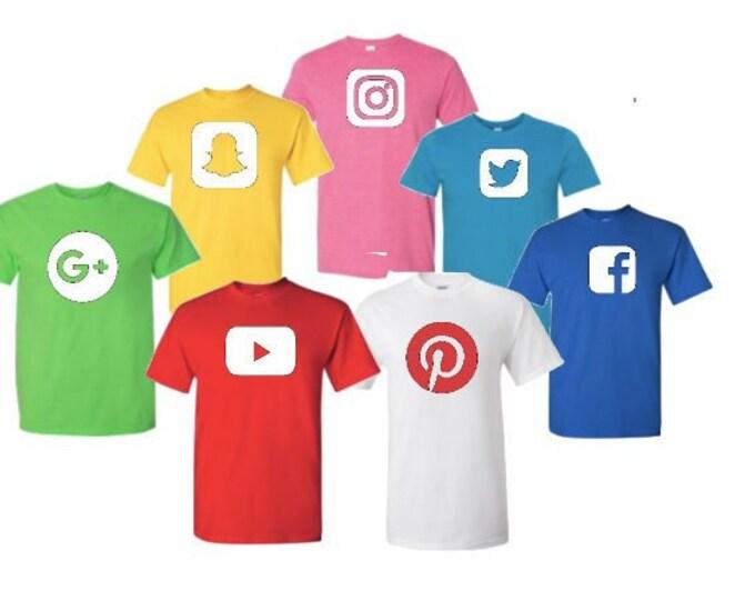 Social Media Inspired T-shirt Halloween Costume Cosplay group tee shirt Crayon mens youth toddler shirt
