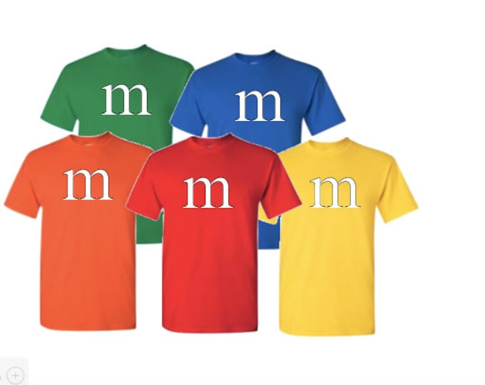 M print T-shirt Halloween Costume Cosplay candy T-shirts Available in Men's Youth Kids