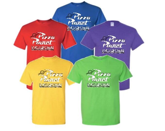 Pizza Planet T-shirt Halloween Costume Cosplay group tee shirt Disney family shirt Disney vacation shirt mens youth toddler