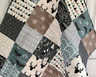 3d2b720d611a Rustic Woodland Aztec baby quilt