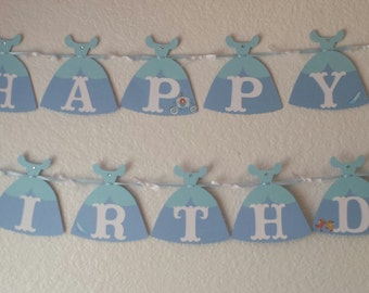 Cinderella party banner, Cinderella Party Decorations,Cinderella dress,Disney Cinderella