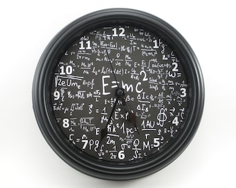 "MATH Physics SCIENCE ""E=mc2"" Wall Clock Math/Physics/Science/Teacher's CLOCK"