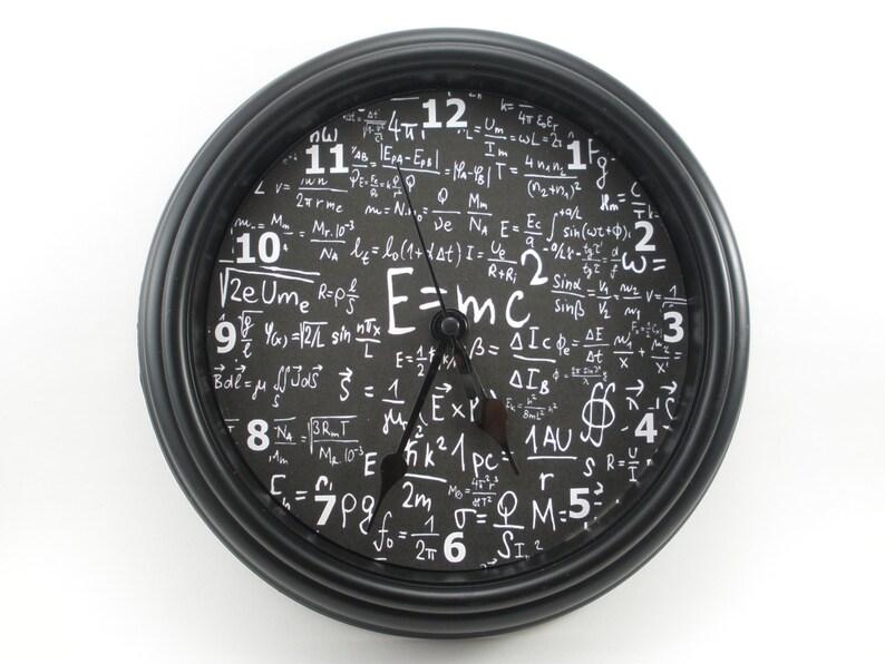 cb6d4becf733 Matemáticas Física Ciencias E mc2 reloj de pared